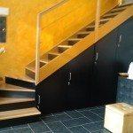 soppalchi in legno:armadio scala per accesso ai soppalchi