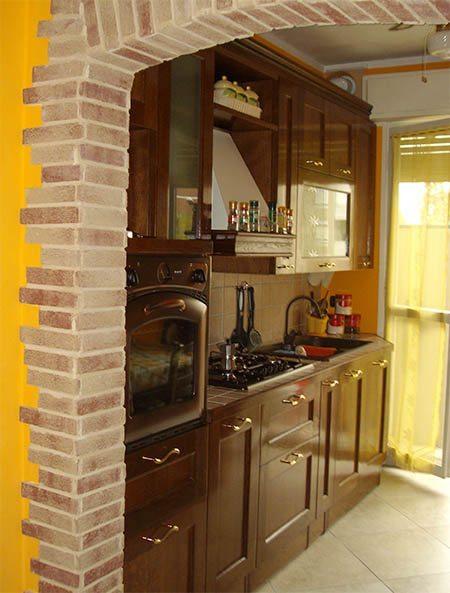 cucina con arco in muratura - Creo Casa Milano, Cucine, Progetti ...