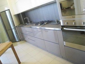 cucina su misura milano laccata lucida moderna