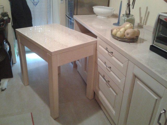 tavolo estraibile sotto piano estraibile