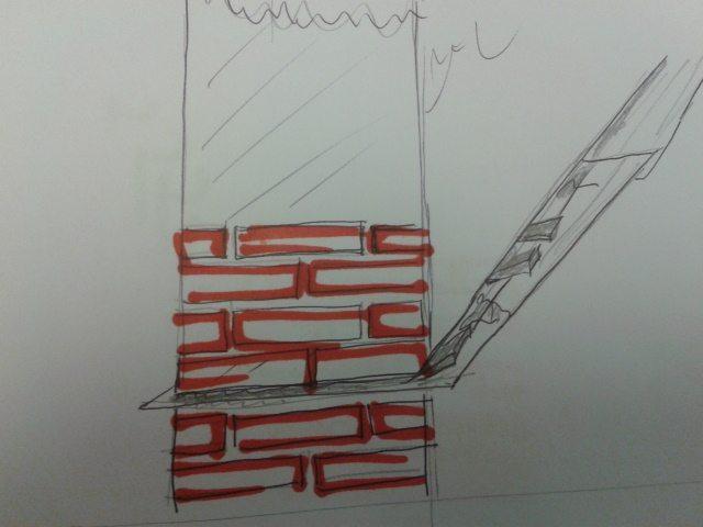schizzo taglio muri