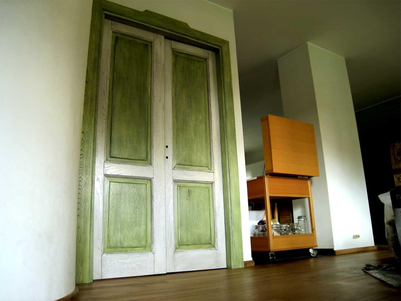 Dipingere Le Porte Di Casa porte interne in massello artigianali a milano - creo casa