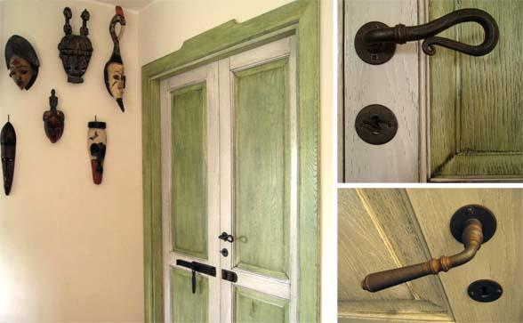 porte anticate con maniglie in ferro battuto low   Creo Casa