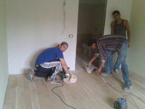lamatura e spazzolatura pavimenti in legno