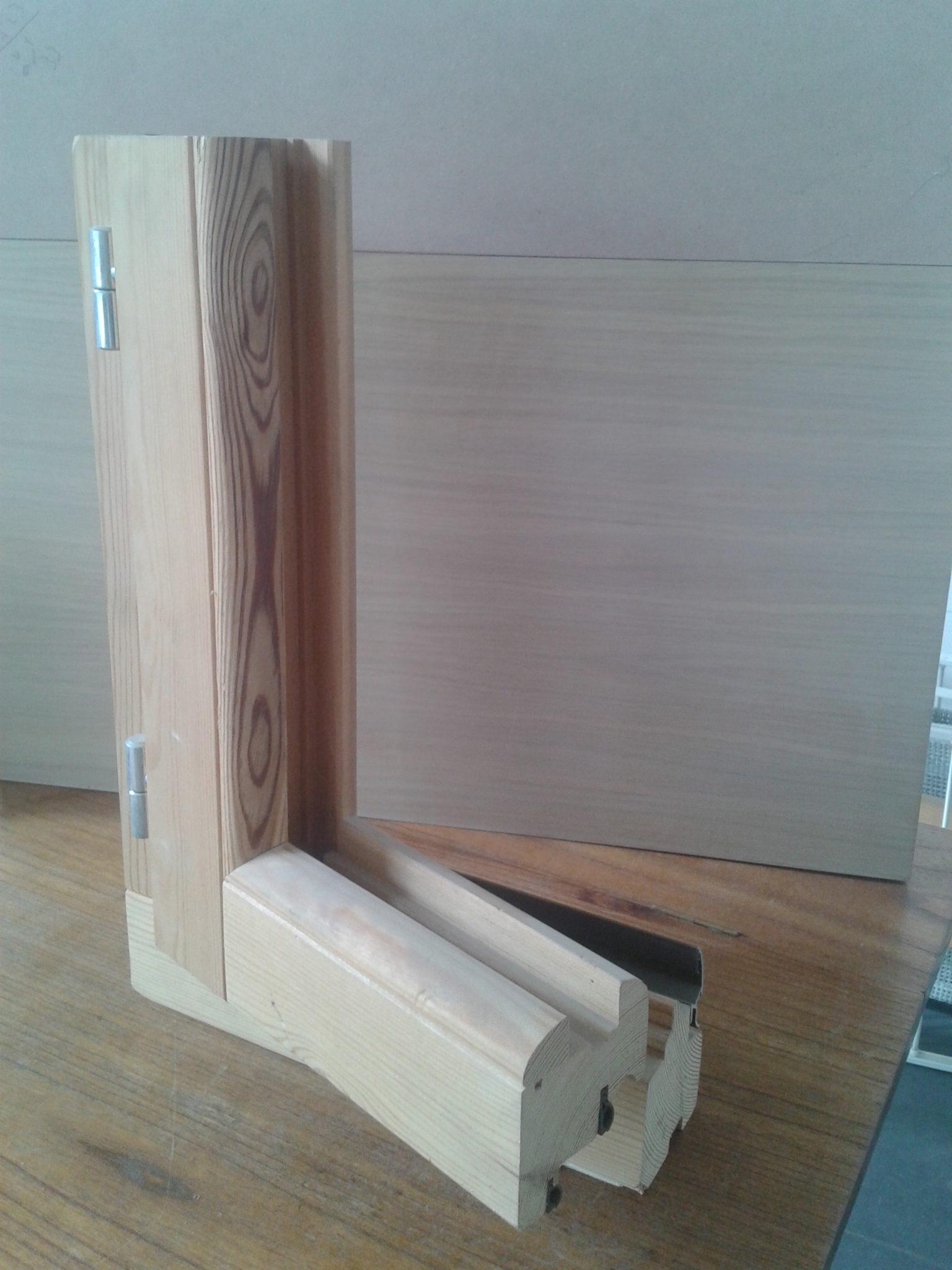 sezione montante alluminio accoppiato con il legno