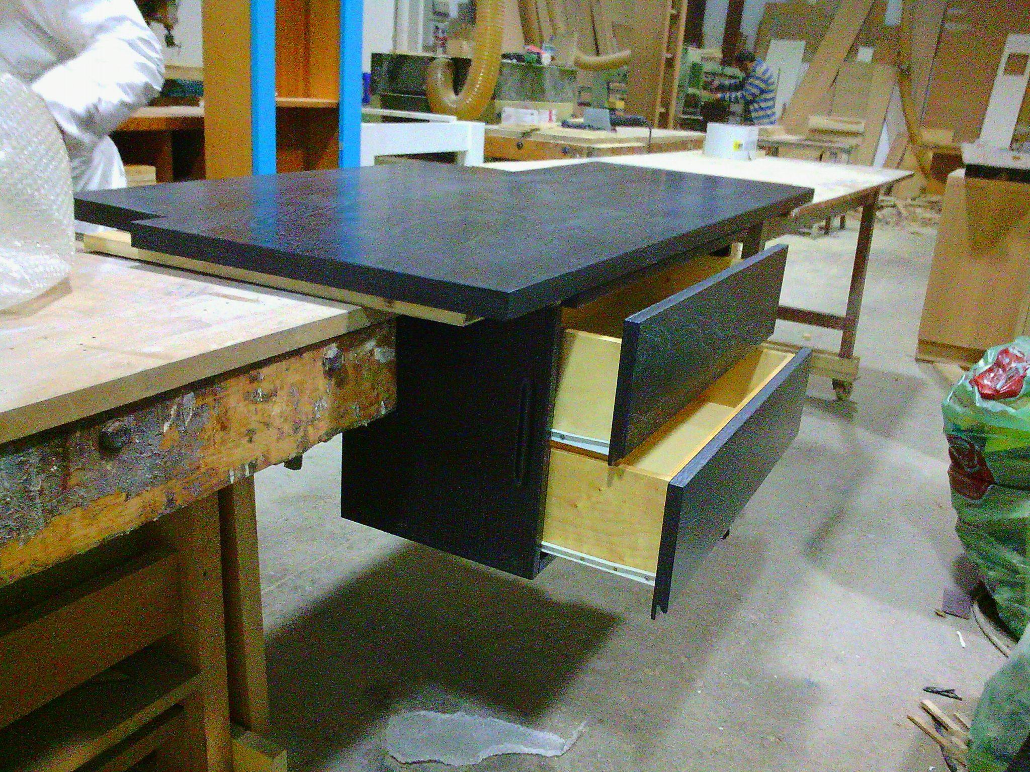Top Piano Di Lavoro Penisola Durante La Lavorazione Di Prova In  #6A4820 2048 1536 Piano Di Lavoro Cucina Ikea Su Misura