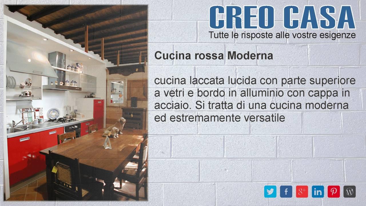 Cucina rossa Moderna - Cucina laccata lucida