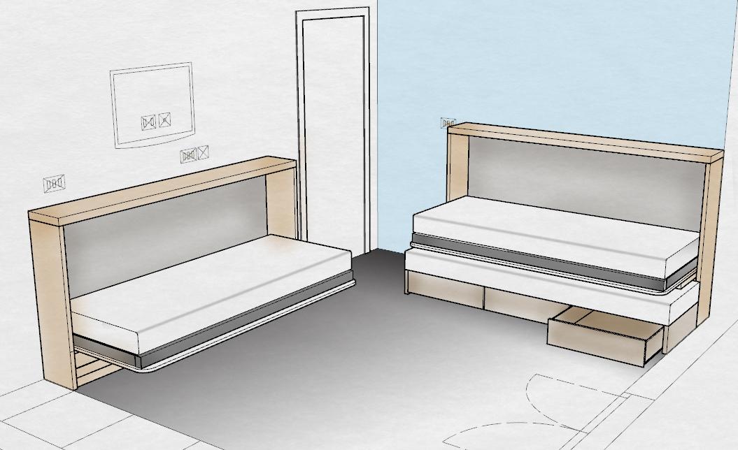 mobili trasformabili: letti, divani, tavoli, stendini per avere più ...