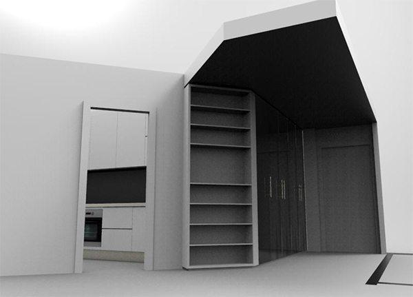Armadio Libreria Ingresso.Armadio Libreria Ingresso Nicchia Mobile Progetto Creo