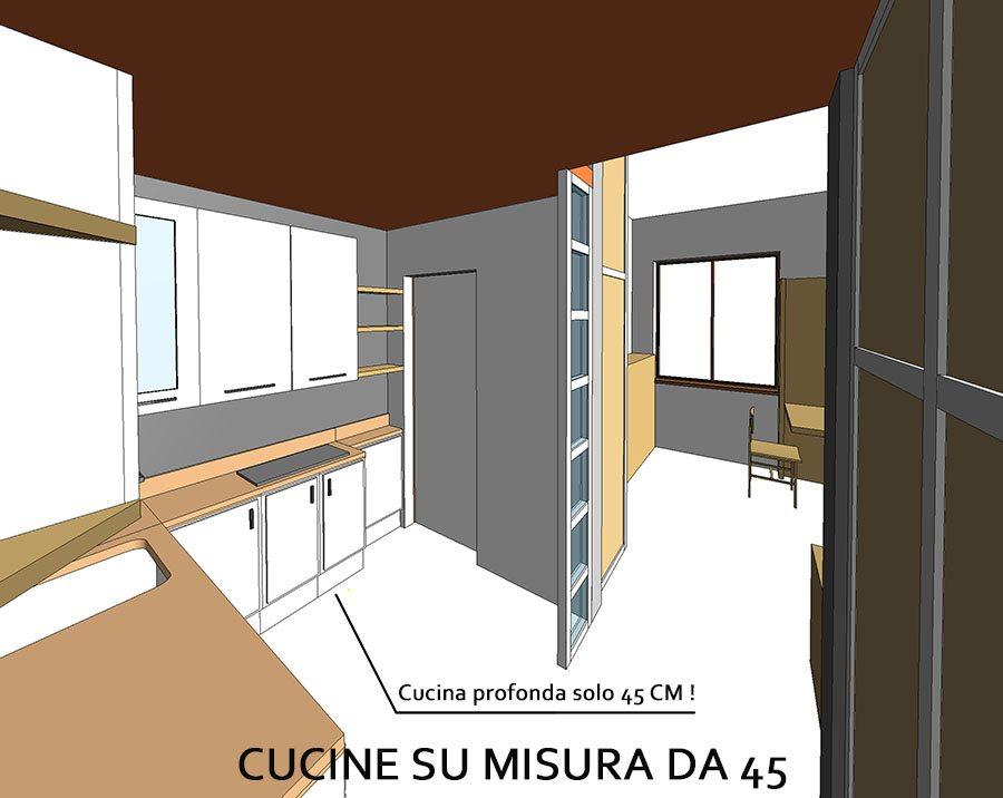 Cucina 45 ambiente stretto lungo   creo casa milano,cucine ...