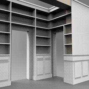 libreria-attorno-porte-boiserie-progetto-milano