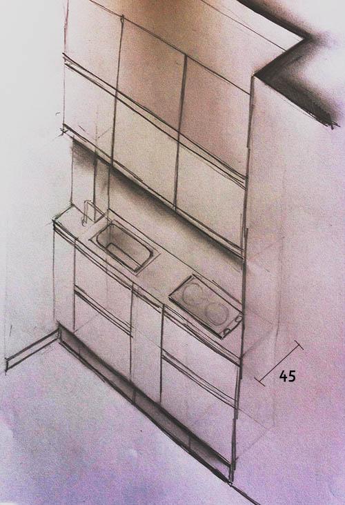 Minicucina compatta da 45   creo casa milano,cucine, progetti ...