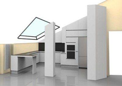 cucina-mansarda-con-finestra-velux-progetto