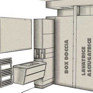 Mobili Per Lavatrici Ad Incasso.Mobile Per Lavabo Ad Incasso Sottopiano Creo Casa Milano Cucine
