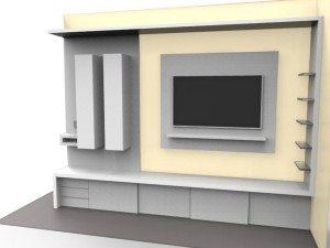 soggiorno minimalista su misura