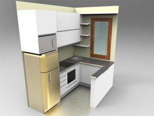cucina con frigorifero Smeg