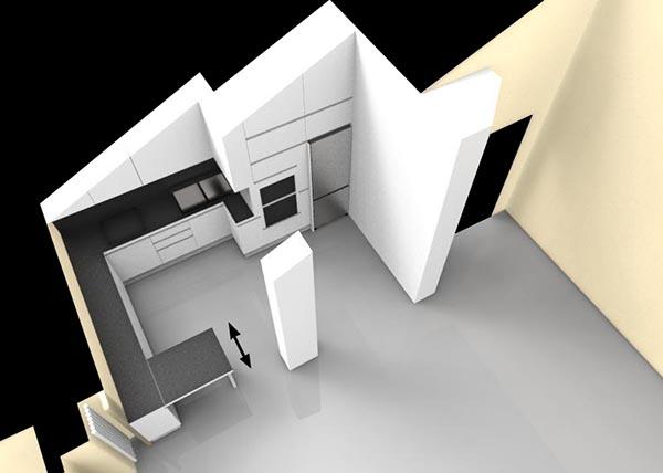 Cucina soggiorno mansarda   creo casa milano,cucine, progetti ...