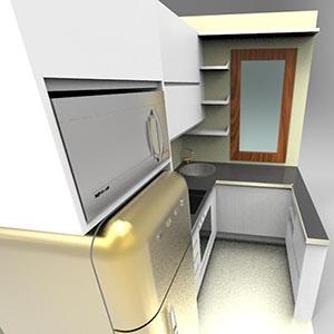 cucina su misura con frigo smeg