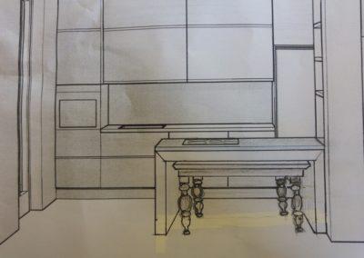 tavolo sotto il top