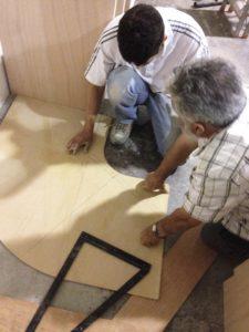 disposizioni mobili pianta irregolare