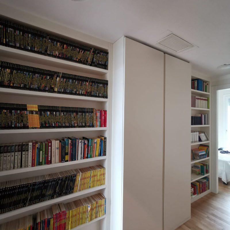 libreria e armadio su misura